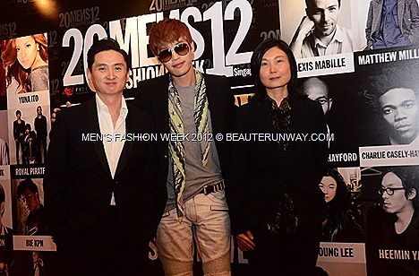 MEN'S FASHION WEEK SINGAPORE 2012 Korean  CELEBRITIES DESIGNER Singer actor model Se7en, Lee Soo Hyuk Sung Hoon MARINA BAY SANDS