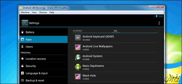android virtualbox windows