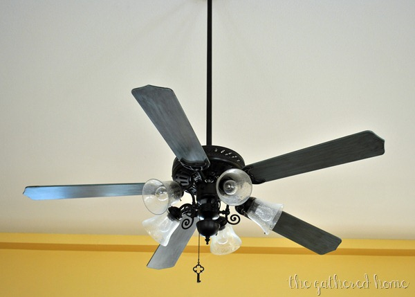 Ceiling fan makeover the gathered home painted ceiling fan makeover after aloadofball Images
