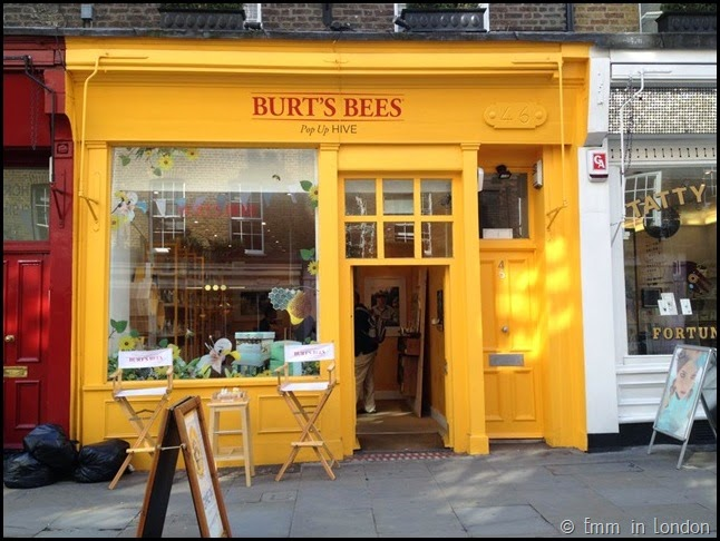 Burt Bees pop-up hive in Covent Garden