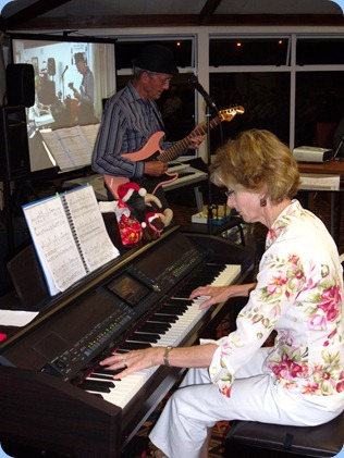 Denise and Brian Gunson playing during their mini concert.