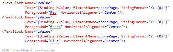WP7.1 Demo - Accelerometer - Line Value XAML