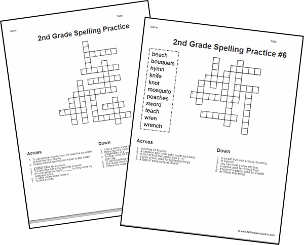 Fun Spelling Worksheets for 2nd Grade