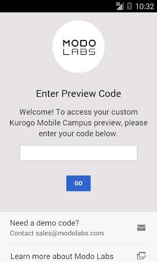Kurogo Mobile Campus Preview