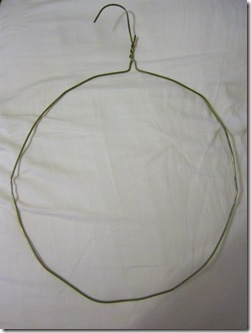 Coat Hanger Wreath Form