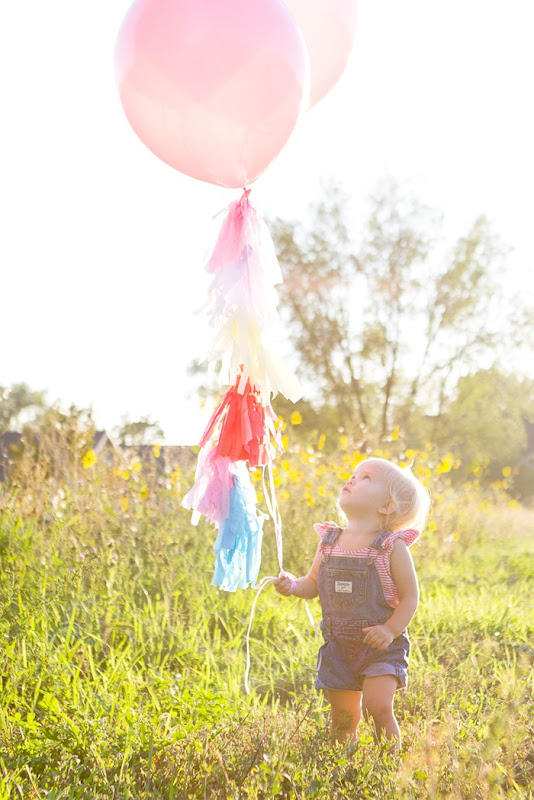 tassel balloon banner, two year old birthday