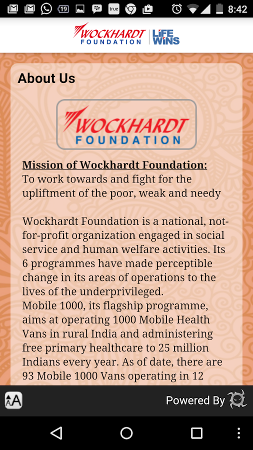 Wockhardt Foundation- screenshot