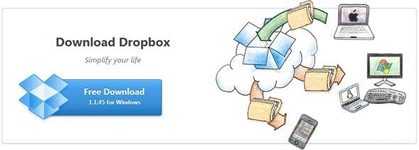 Baixe o DropBox de graça.