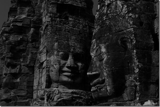Smiling faces of Bayon, Cambodia