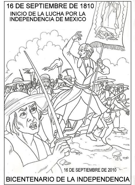 Dibujos De La Independencia Mexicana Para Colorear