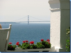 3439 Michigan Mackinac Island -  view of Mackinac Bridge from Grand Hotel
