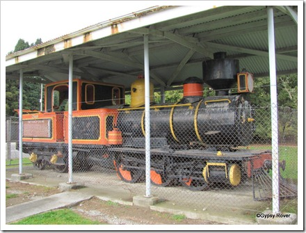 Fairlie loco no R28. Built in England in 1878 and retired in 1948. Worked mainly in Canterbury and Greymouth.