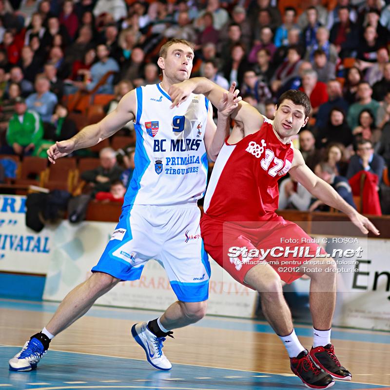 Mikalai Aliakseyeu / BC Mures - Dinamo Bucuresti, 3 martie 2012