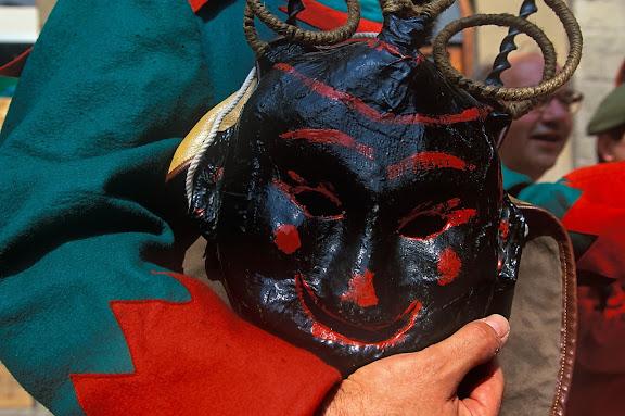 Màscara de dimoni, Salt de Maces,La Patum de Berga, festa declarada Patrimoni de la Humanitat (UNESCO),Berga, el Berguedà, Barcelona2000