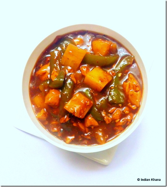 Vegetrian tofu pineapple manchurian indo chinese recipe