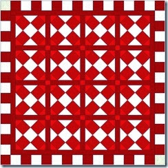 red white accuquilt mix and match