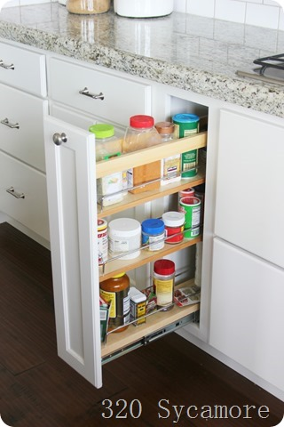 pullout spice racks