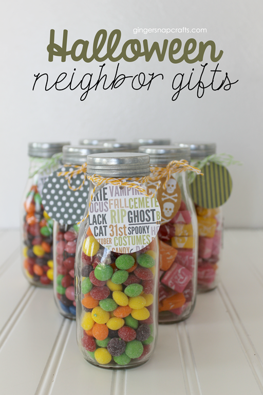 Halloween Neighbor Gifts at GingerSnapCrafts.com #collectivebias #shop