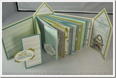 12 Days of Christmas, All is Calm House Mini Book, Amanda Bates, The Craft Spa,  (7)