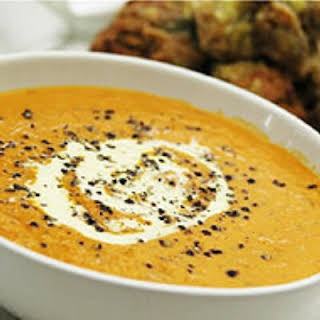 Fall Pumpkin Basil Soup.