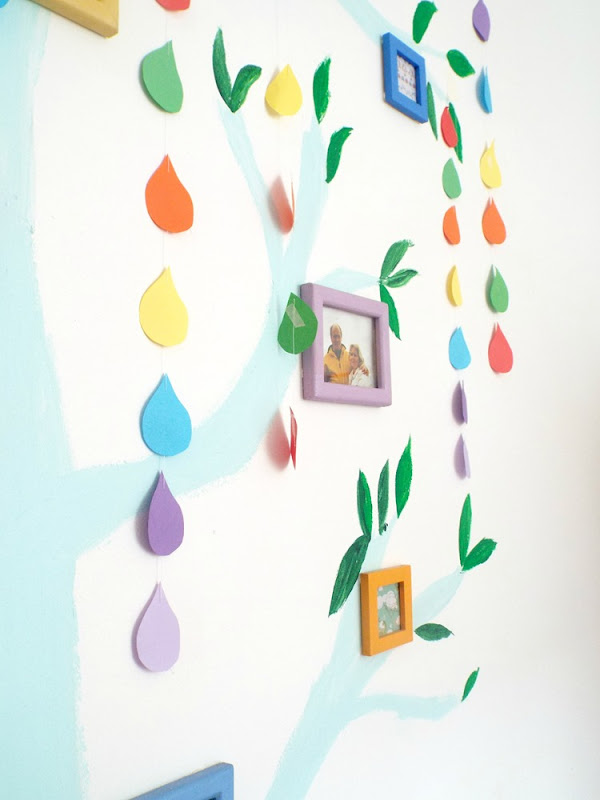 How to make paper rainbow raindrops