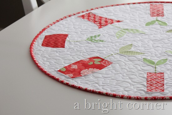 Sprouts table topper pattern