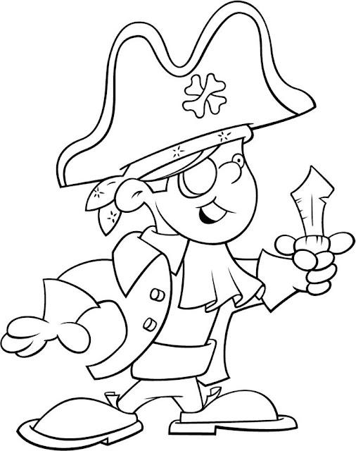 Dibujos De Piratas Con Parche Para Colorear