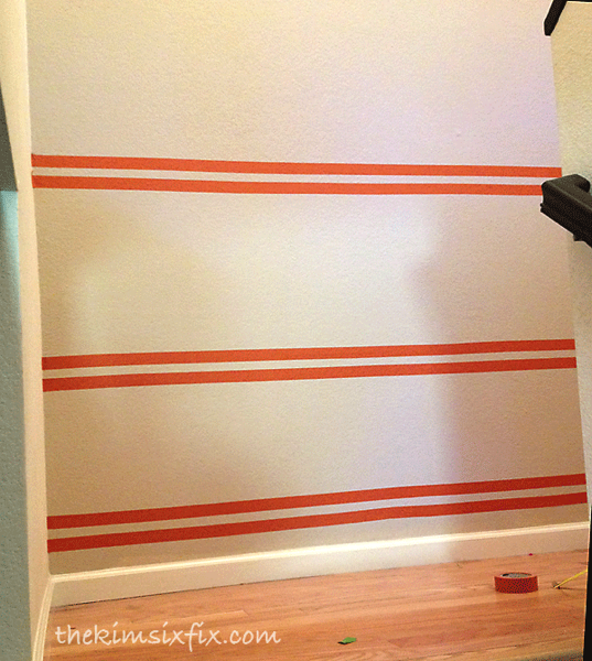 Taping off paint line