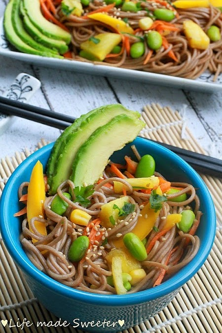 Soba Noodle Salad with Mango, Edamame, Pineapples & Avocado 6.jpg