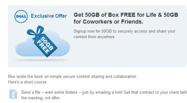50 GB gratis en box.net