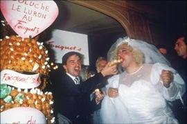 mariage coluche le luron