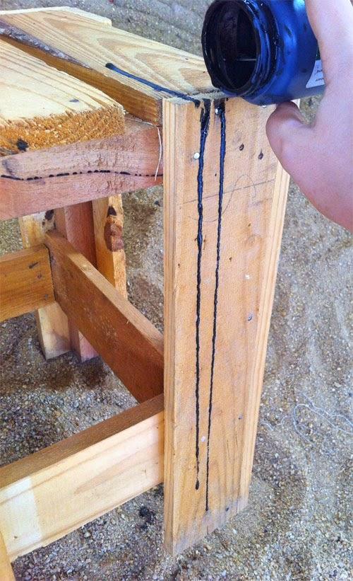 Como customizar banco de madeira de um jeito divertido