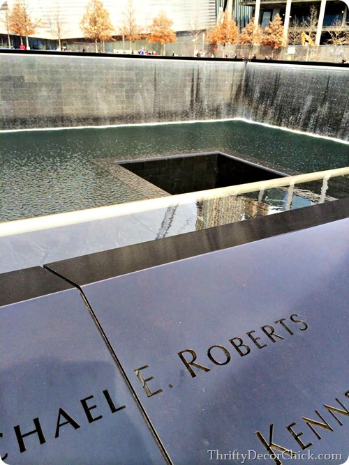 World Trade Center Memorial fountain