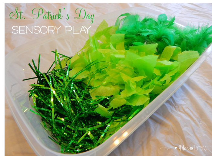 Cheap St. Patrick's Day Sensory Bin