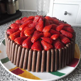 Strawberry Chocolate Finger Cake by Janet Skoyles - Food & Drink Cooking & Baking (  )