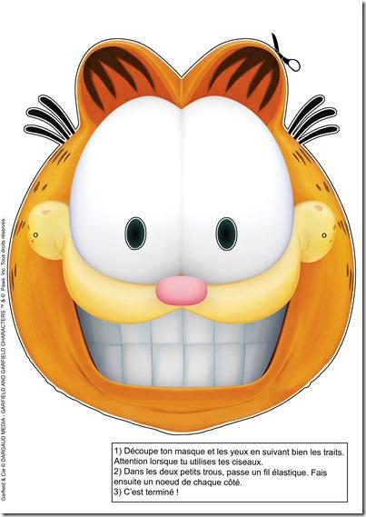 Mascaras De Garfield Halloween Para Recortar Disfraz Casero