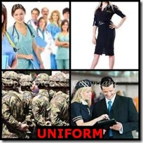 UNIFORM- 4 Pics 1 Word Answers 3 Letters