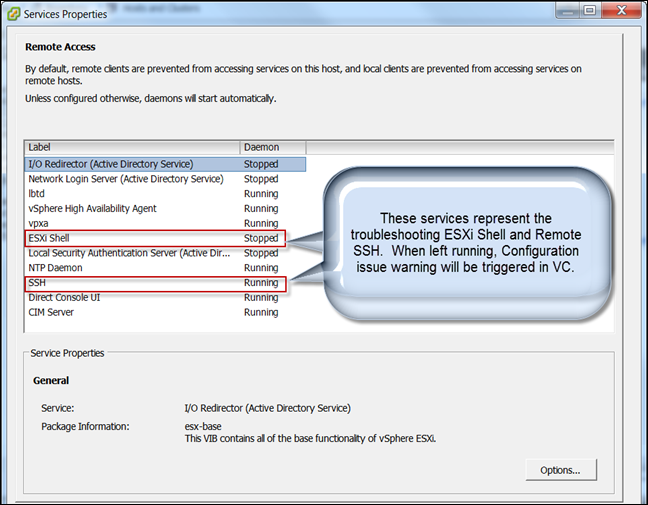 Enabling/Disabling SSH via vCenter | vCloudInfo