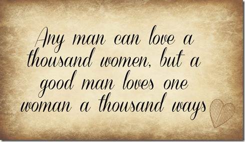 A man can love a woman