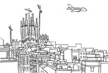 Colorear Dibujos De Barcelona Pedrera Y Sagrada Familia Colorear