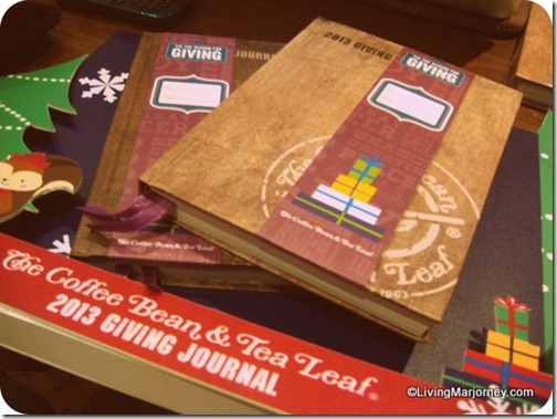 2013 Coffee Bean & Tea Leaf (CBTL) Giving Journal