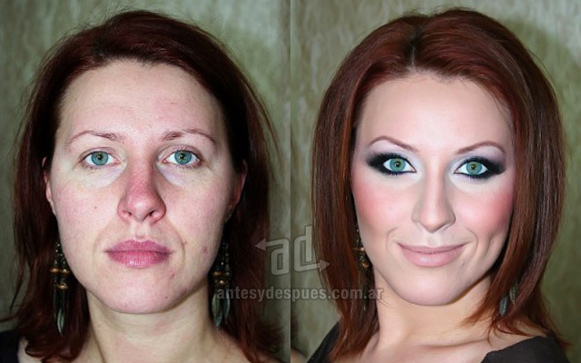 Before and after make-up artists 20