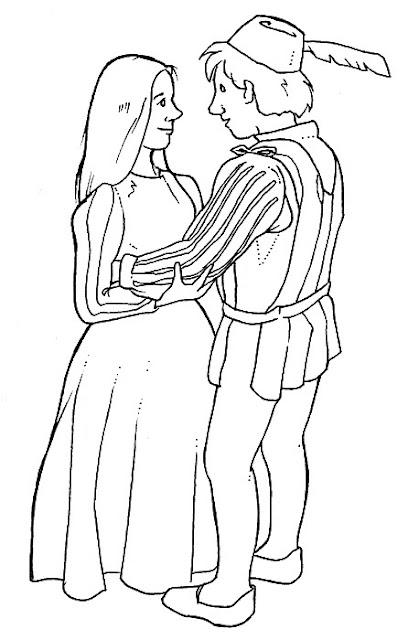 Romeo Y Julieta Dibujo Para Colorear