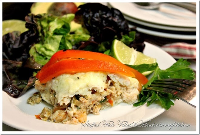 Crab & Shrimp Stuffed Fish | Filete de Pescado Relleno de Mariscos
