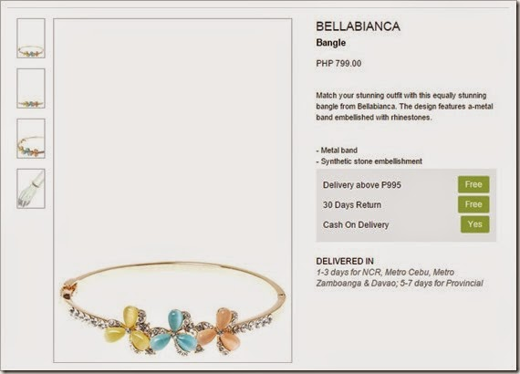 bellablanca bangle zalora