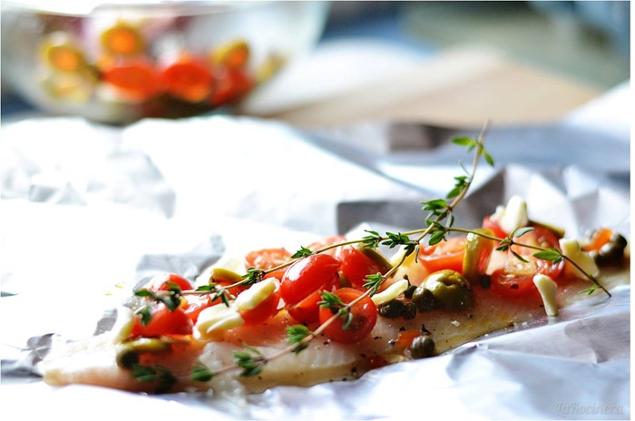 sole with tomatoes and olives