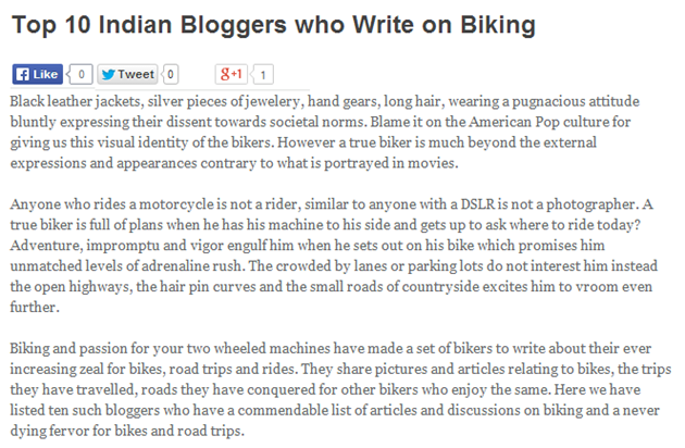 Dealstan Shopping Blog • Top 10 Indian Bloggers who Write on Biking