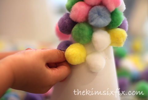 Kids craft pompoms