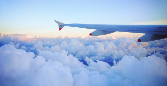 clouds from a plane