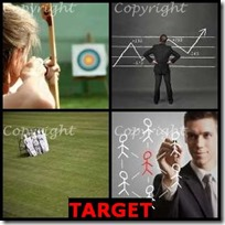 TARGET- 4 Pics 1 Word Answers 3 Letters